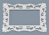 Papatya Ayna Cercevesi 90x140 Beyaz