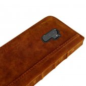 Wachikopa Samsung Galaxy S9 Hakiki Deri Kılıf Book Case Boni Kahv-2