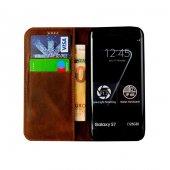 Wachikopa Samsung Galaxy S7 Hakiki Deri Kılıf Slim Magnet Bari Ko-3