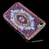 Wachikopa Apple iPhone 7 / 8 Kapak Saruhan El Yapımı Kilim Desenl-2