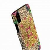 Wachikopa Apple iPhone X / XS Kapak Farsh El Yapımı Kilim Desenli-5