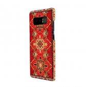 Wachikopa Samsung Galaxy Note 8 Kapak Sedir El Yapımı Kilim Desen-3