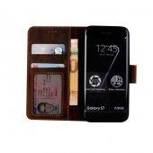 Wachikopa Samsung Galaxy S7 Hakiki Deri Kılıf Classic Mirena Kahv-4
