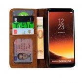 Wachikopa Samsung Galaxy S8 Hakiki Deri Kılıf Book Case Boni Kahv-8