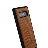 Wachikopa Samsung Note 8 Hakiki Deri Kapak Back Cover Honey Kahve-3