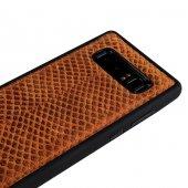 Wachikopa Samsung Note 8 Hakiki Deri Kapak Back Cover Honey Kahve-4