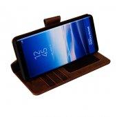 Wachikopa Samsung Note 8 Hakiki Deri Kılıf Library Satin  Kahvere-5