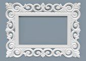 Defne Ayna Cercevesi 80x100 Beyaz