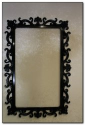 Sümbül Ayna Cercevesi 70x100 Siyah