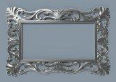 Papatya Ayna Cercevesi 90x140 Gumus