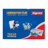 Bigpoint Laminasyon Filmi 65x95mm 125 Mikron 100lü Kutu