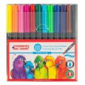 Bigpoint Fırça Uçlu Keçeli Kalem 12li Set