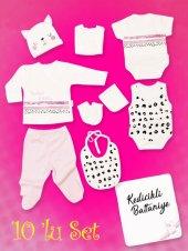 Piaff Kız Bebek Penye Zıbın Seti 10lu Wg5033