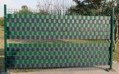 PVC Şerit Gri 19cmx40metre Bahçe Balkon Çit Tel Kapatmak İçin