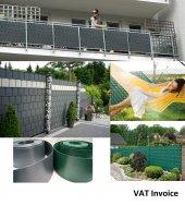 PVC Şerit Gri 19cmx40metre Bahçe Balkon Çit Tel Kapatmak İçin -3