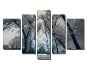 Siyah Beyaz Ağaç Tablosu