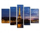 ışıklı Eyfel Kulesi Tablosu