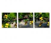 3 Parçalı Sarı Çiçekler Tablosu