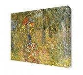 Gustav Klimt Çiçekler Canvas Tablo