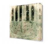 Eskitilmiş Piyano Tuşları Canvas Tablo