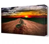 Bulutlar Ve Güneş Manzarası Canvas Tablo
