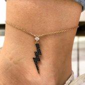 Yeni Şimşek Rosegold Trend Gümüş Halhal...
