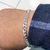 Gurmet 7 Mm Klasik Gümüş Zincir Erkek Bileklik