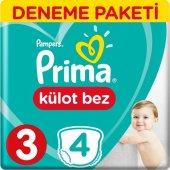 Prima Külot Bez 3 Numara 4 Lü Deneme Paket