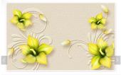 3d Özel Serii Limon Çiçeği Modelli Duvar...