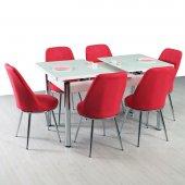 Yemek Masası Mutfak Masa Sandalye Takımları Cam...