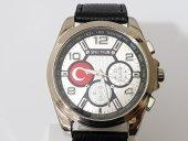 Türk Bayraklı Deri Kordon Spectrum Erkek Kol Saati