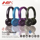 Nia Q1 Bluetooth Kablosuz Kulaklık Fm Radyo Mp3...