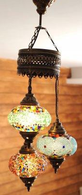 Tukuaz Daire Otantik Tavan Sarkıt Avize Mozaik Lamba Gece Lambası Dekor Lamba