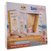 Biobaby Spf 50 Bebek Güneş Losyonu 100ml +bebek Pe...