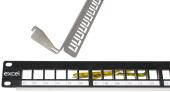 100 026 Bk Excel 24 Port Keystone Jak Frame Plastic Front All Black Boş Patch Panel