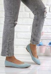 Gema Açık Mavi Süet Bayan Babet Ayakkabı
