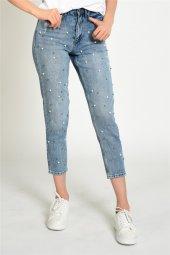 İnci Detaylı Mom Kot Pantolon