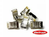 Electroon Cat5 Cat6 Rj45 Metal Fiş 10adet