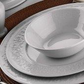 Kütahya Porselen Açelya 12 Kişilik 53 Parça Yemek Takımı