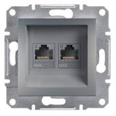 Schneider Asfora Çelik Renk 2 Li Data Prizi Cat6 Eph4800162