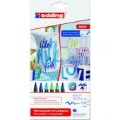 Edding 4200 Porselen Kalemi 6 Lı Soğuk Renkler