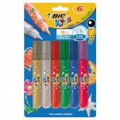 Bic Kids Metalik Simli Yapıştırıcı 6 Renk