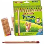 Alpino Trimax Üçgen Şekilli Jumbo Kuru Boya 12...