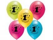 1 Yaş Baskılı Balon 100 Adet