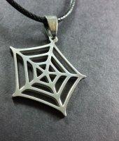 Spiderman Örümcek Ağı Paslanmaz Çelik Bayan Erkek Unisex Kolye