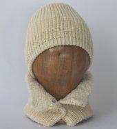 Organik Bebek Şapka Atkısı Takım Organic Bonny Baby