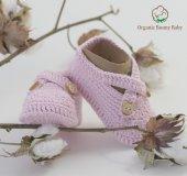 Organik Bebek Patiği Organic Bonny Baby El Yapımı Bebek Patiği