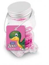 Mas Zoo Cam Ayıcık Kavanozda Renkli Ataç Pembe