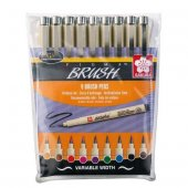 Sakura Pigma Brush Pen Fırça Uçlu Çizim Kalemi 9 Renk Set