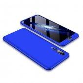 Huawei P20 Pro Kılıf 360 Mavi Full Koruma
